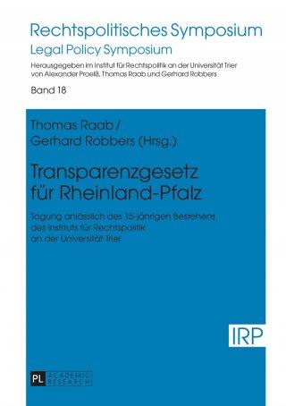 Transparenzgesetz für Rheinland-Pfalz